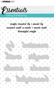 Studio Light Embossing Die Cut A6 Stencil Essentials nr.185 STENCILSL185