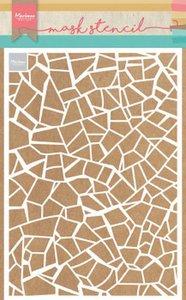 Marianne D Stencil Gebroken tegels PS8036 149x149 mm