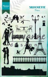 Marianne D Clear Stamps Silhouette Parijs CS1027 110x150 cm