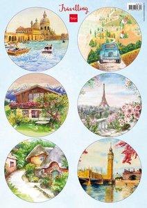 Marianne D Decoupage Travelling VK9576 6 round designs
