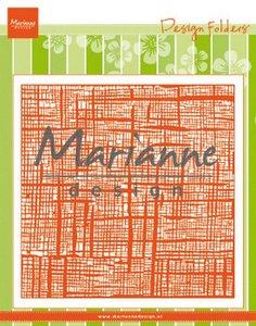 Marianne D Embossing folder Linnen DF3453 152x154 mm