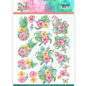 CD11331 3D Knipvel - Yvonne Creations - Tropical Flowers