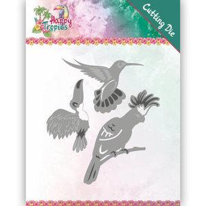 YCD10175 Dies - Yvonne Creations - Happy Tropics - Exotic Birds