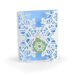 Sizzix Thinlits Die Set - 4PK Card Wrap Snowflake 663606 Jordan Caderao (07-19)