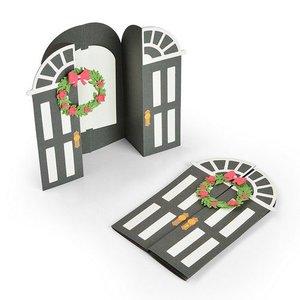 Sizzix Thinlits Die Set - 11PK Card Door Fold-a-Long 663605 Jen Long (07-19)