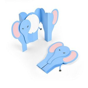 Sizzix Thinlits Die Set - 6PK Card Elephant Fold-a-Long 663604 Jen Long (07-19)