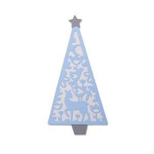 Sizzix Thinlits Die Set - 4PK Folk Christmas Tree 663442 Lisa Jones (07-19)