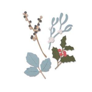 Sizzix Thinlits Die Set - 5PK Winter Leaves 663425 Sophie Guilar (07-19)