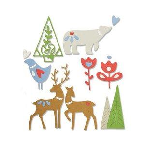 Sizzix Thinlits Die Set - 10PK Christmas Elements 663413 Lisa Jones (07-19)