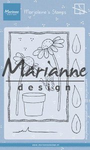 Marianne D Clear Stamps Marjoleine's daisies MZ1903 105x148mm