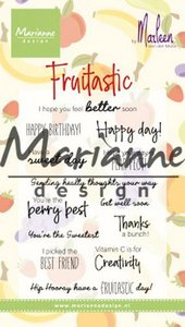 Marianne D Clear Stamps Marleen's Fruitastic CS1031 82x118mm