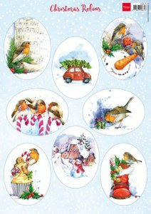 Marianne D Decoupage Christmas - Roodborstjes VK9578 A4