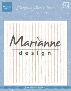 Marianne D Embossing folder Marjoleine's stripes DF3456 152x154mm
