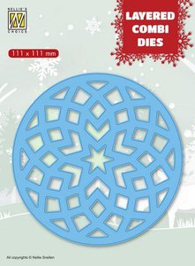 Nellies Choice Layered Combi Die ronde ster (Layer B) LCDRS002 111x111mm
