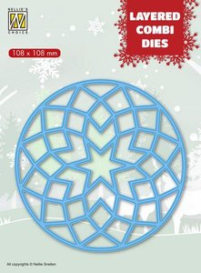 Nellies Choice Layered Combi Die ronde ster (Layer A) LCDRS001 108x108mm