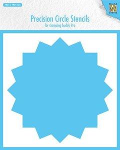 Nellie's Choice Precision stencils 16-punts cirkel MMPCS003 190x190mm