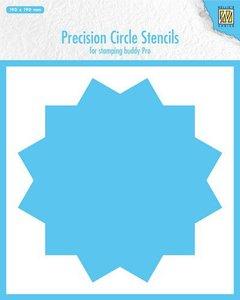 Nellie's Choice Precision stencils 12-punts cirkel MMPCS002 190x190mm