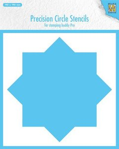 Nellie's Choice Precision stencils 8-punts cirkel MMPCS001 190x190mm