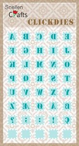 Nellie's Choice Clickdies alphabet-1 (Capitals) SCCD001 15x15mm