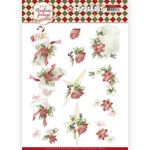 SB10373 3D Pushout - Precious Marieke - Warm Christmas Feelings - Red Christmas Ornaments