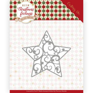 PM10163 Dies - Precious Marieke - Warm Christmas Feelings - Swirl Star